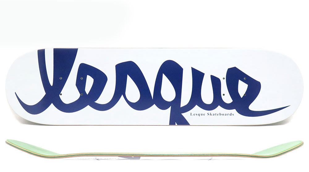 LESQUE DECK レスケ デッキ TEAM LOGO WHITE/NAVY 8インチ