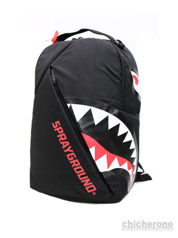 【SPRAY GROUND】ANGLED GHOST SHARK BACKPACK  BLACK
