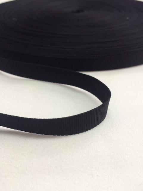 ナイロン 平織(グログラン)10mm幅 黒 5m