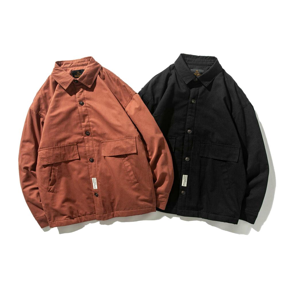 【UNISEX】アウトドア マルチポケット シャツ ジャケット【2colors】