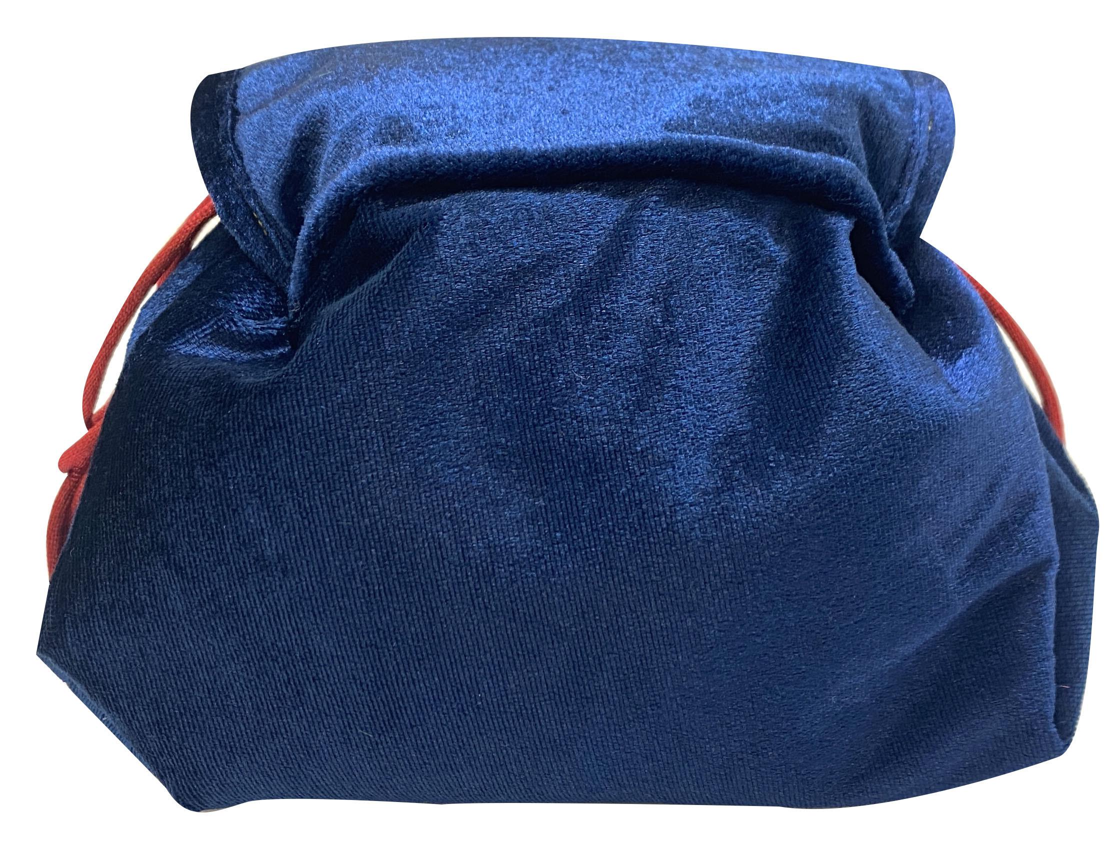 ドラえもん HIMITSU DOUGU ベロア雑貨シリーズ まんまる巾着ポーチ  /  エンスカイ