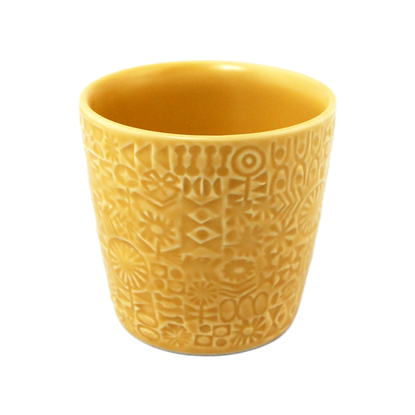 BIRDS' WORDS Patterned Cup yellow
