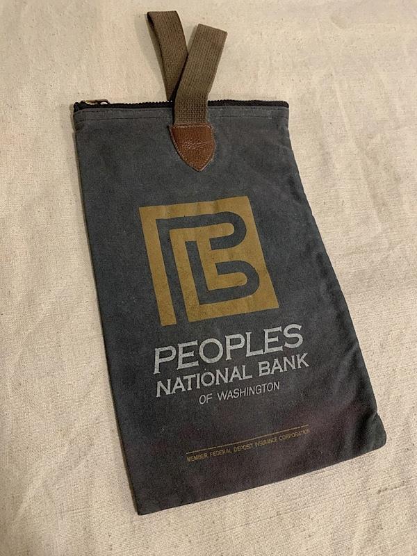 """BANK BAG """" PEOPLES NATIONAL BANK """""""