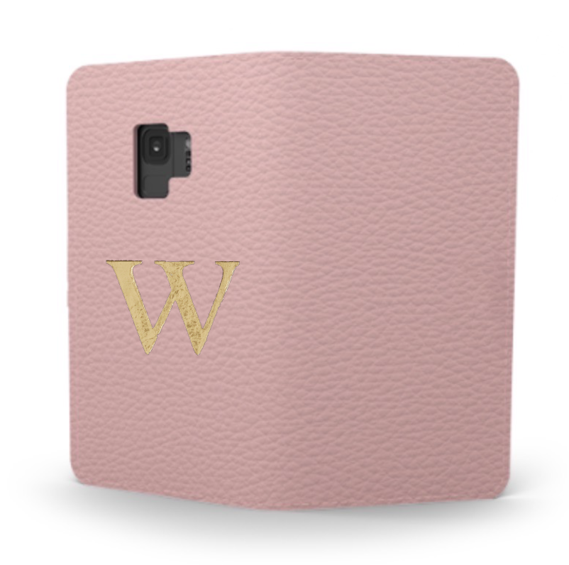 Galaxy Premium Shrink Leather Case (Blush Pink)  : Book cover Type