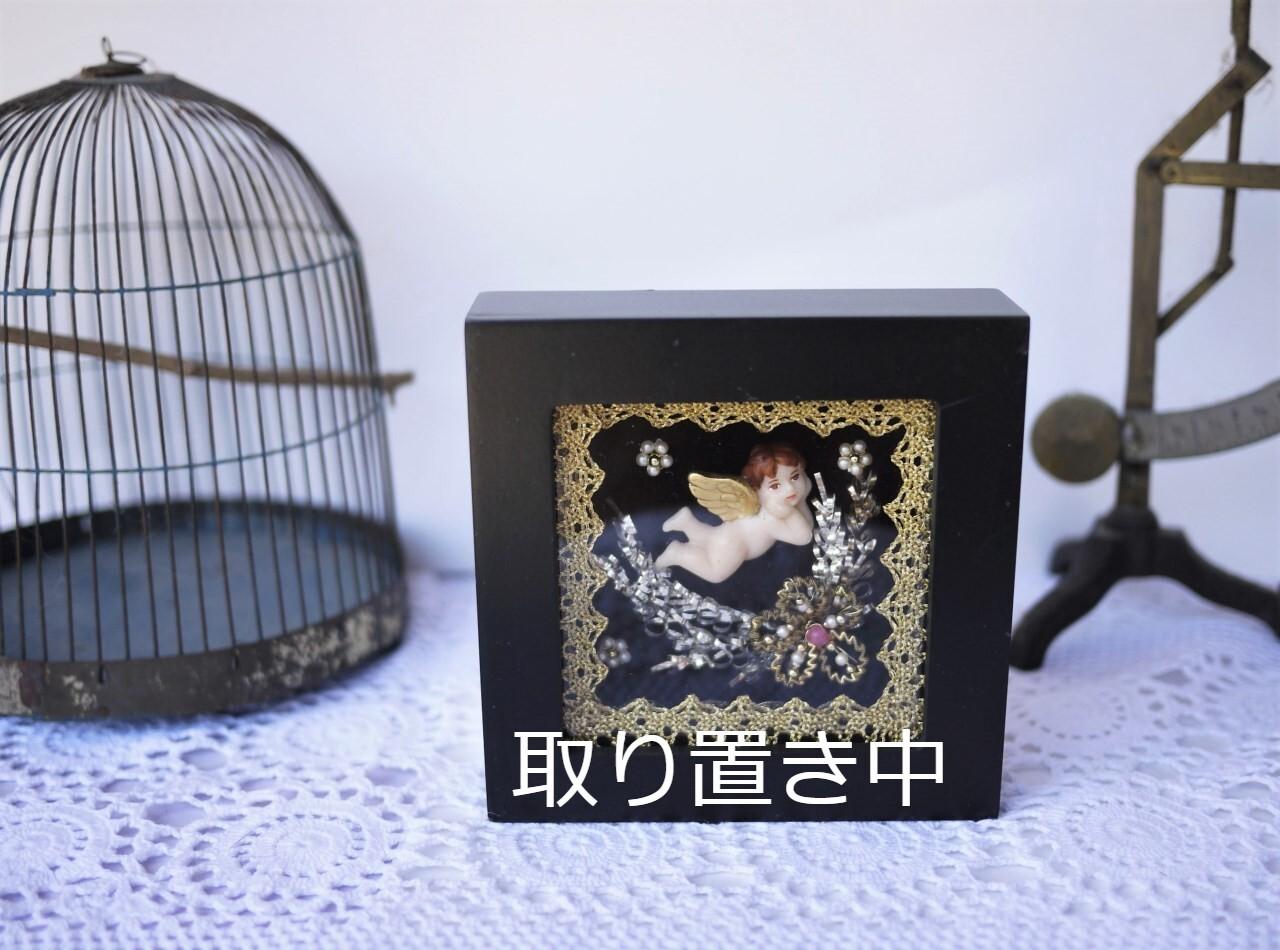 【商談中】頬杖の可愛い天使 黒いフレーム ドイツ