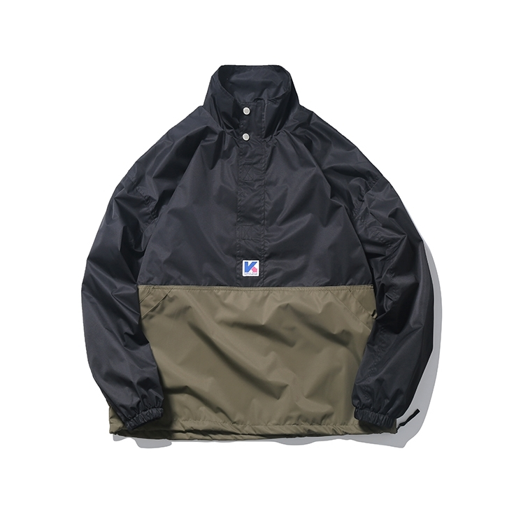 【UNISEX】アウトドア ハイネック プルオーバー ジャケット【2colors】