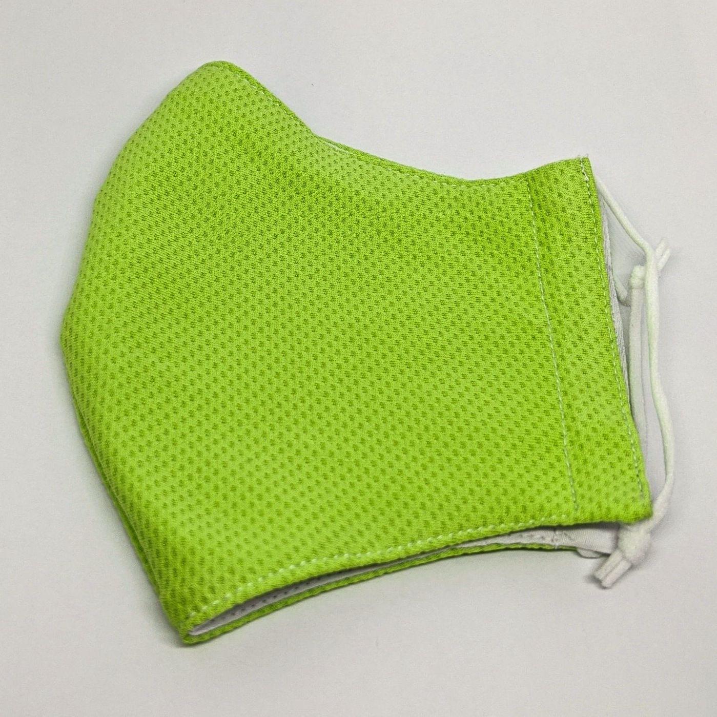 手作りマスク(緑)Lサイズ