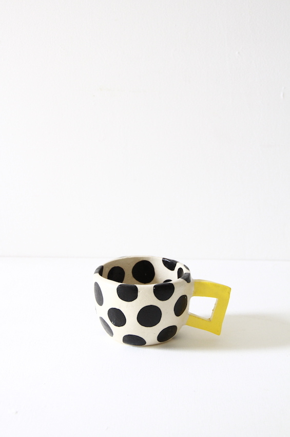 cup  水玉 black 03