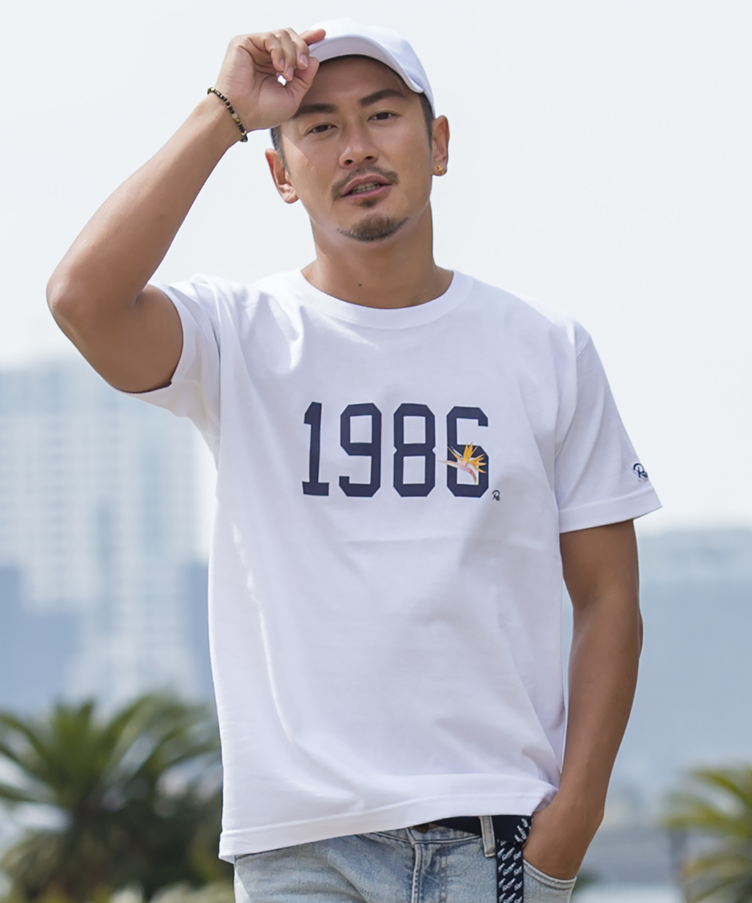 1986 Re: FLOWER PRINT T-shirt[REC174]