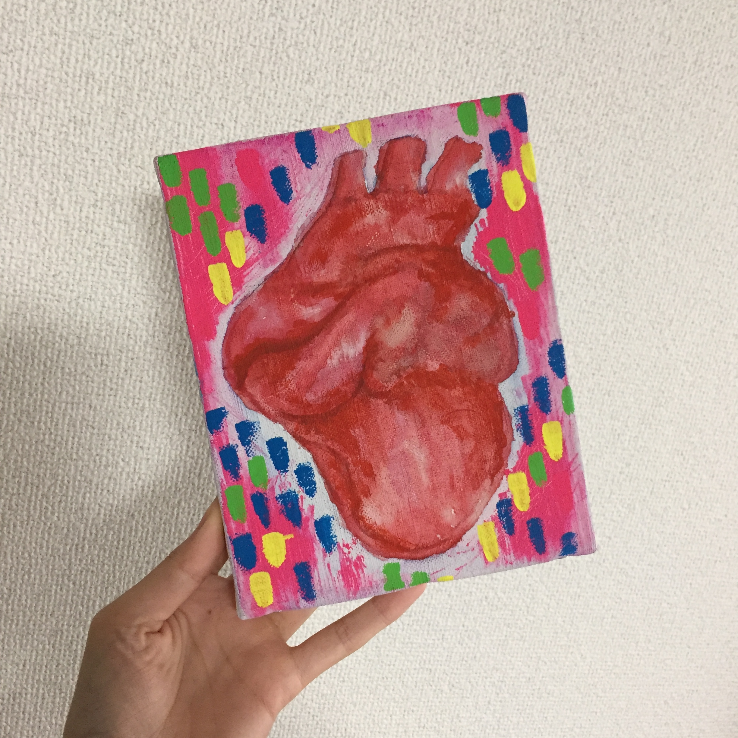 Heart in Love/18cm×14cm/Acrylic painting/ Original Drawing