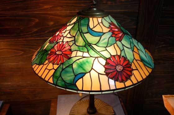 ガーベラ(ティファニーランプ)(ステンドグラスのテーブルランプ) 01040002