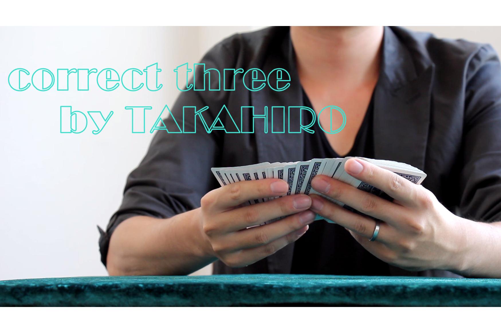 correct three  by TAKAHIRO