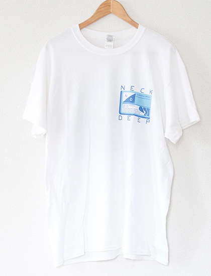 【NECK DEEP】Zilla T-Shirts (White)