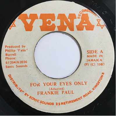 Frankie Paul(フランキーポール) - For Your Eyes Only【7'】