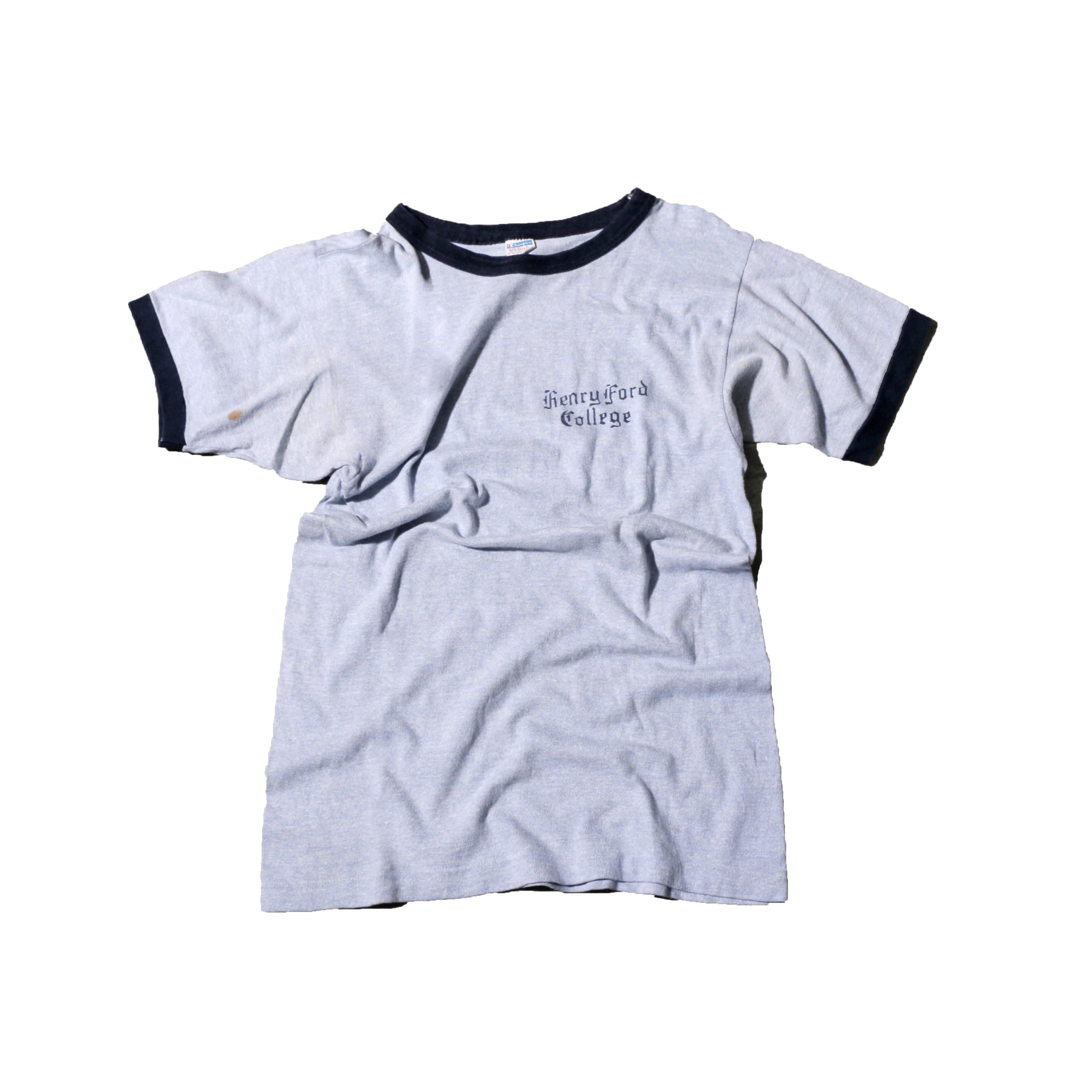 Champion 70s NavyTightRingerT-Shirts