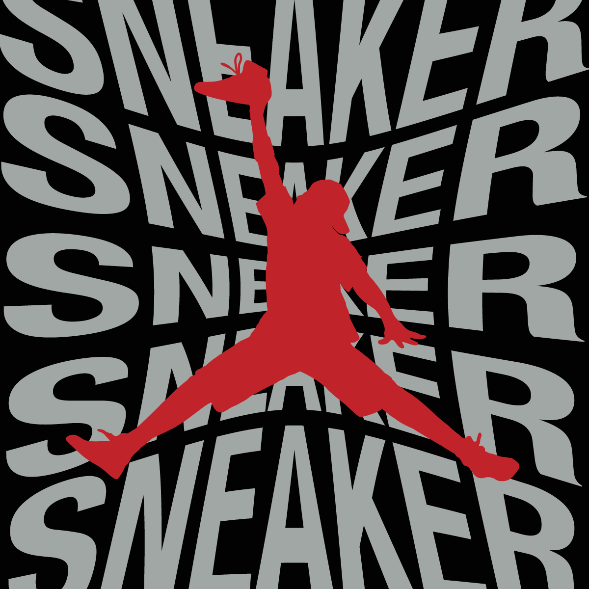 SNEAKERHEADS TEE BLACK