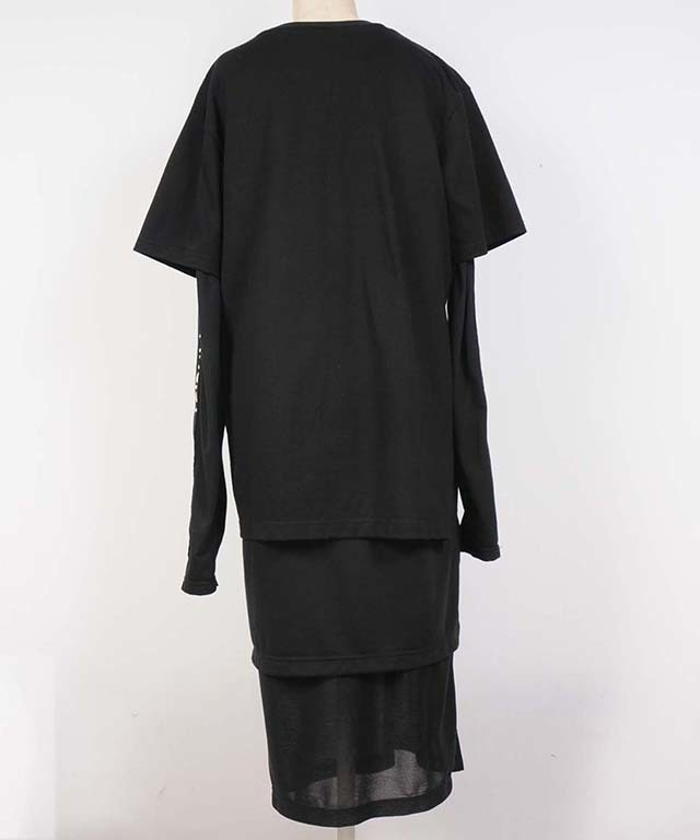 hs18SS-DA01 T-SH DRESS(black)
