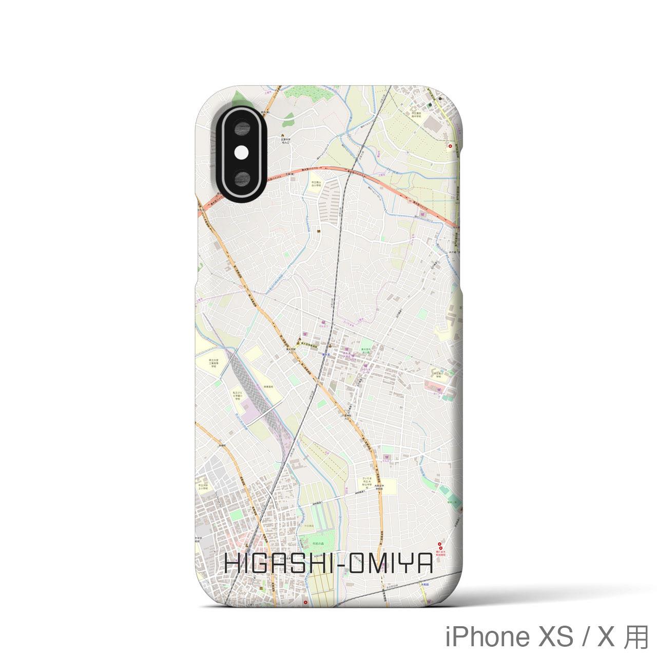 【東大宮】地図柄iPhoneケース(バックカバータイプ・ナチュラル)