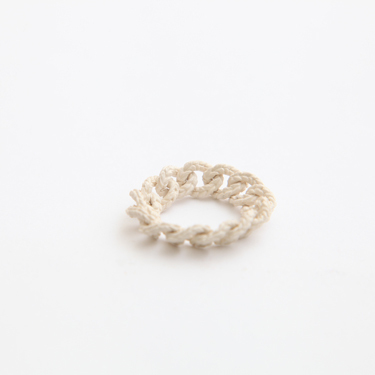 simmon/Knit Ring_White