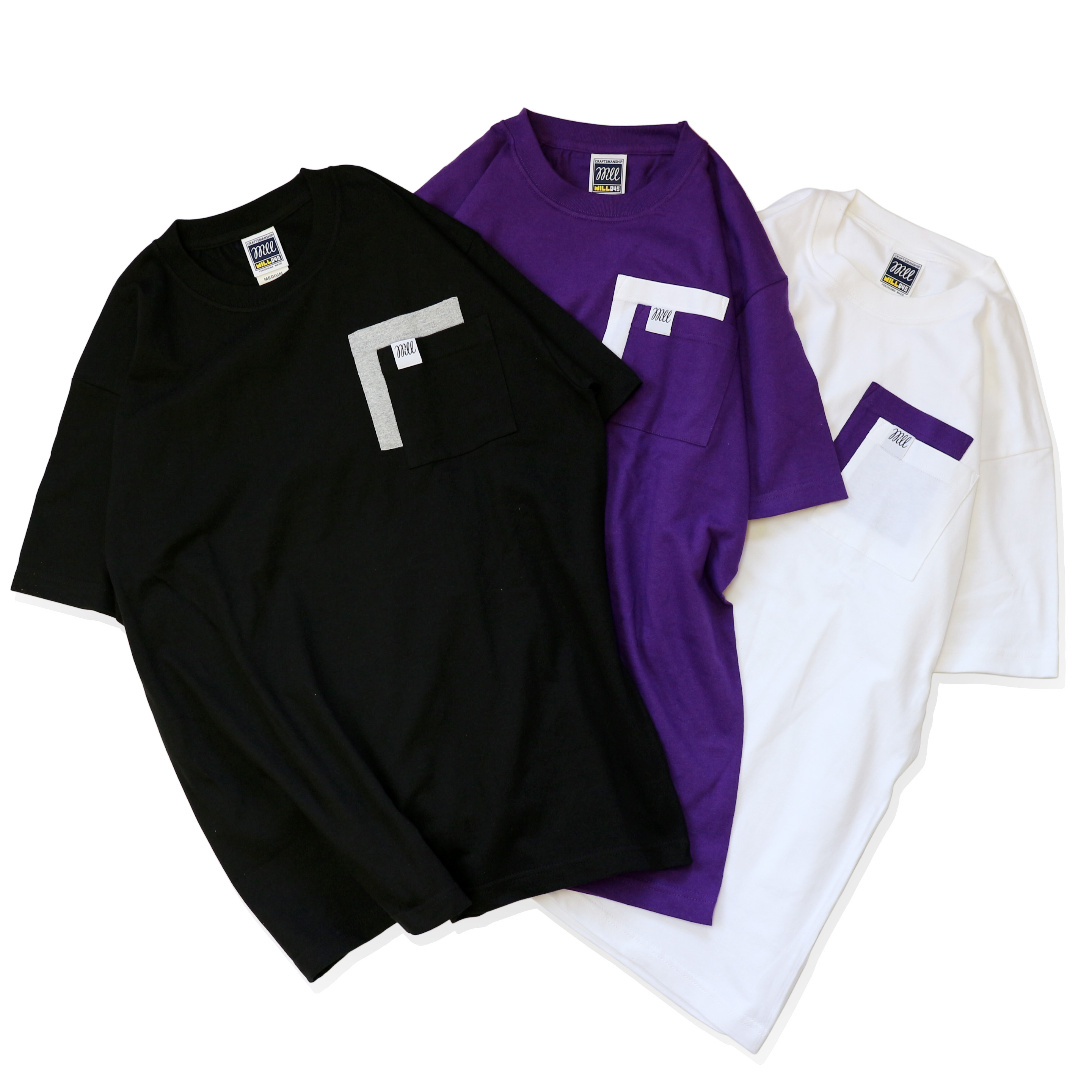"WILL BASIC ""W"" POCKET TEE"