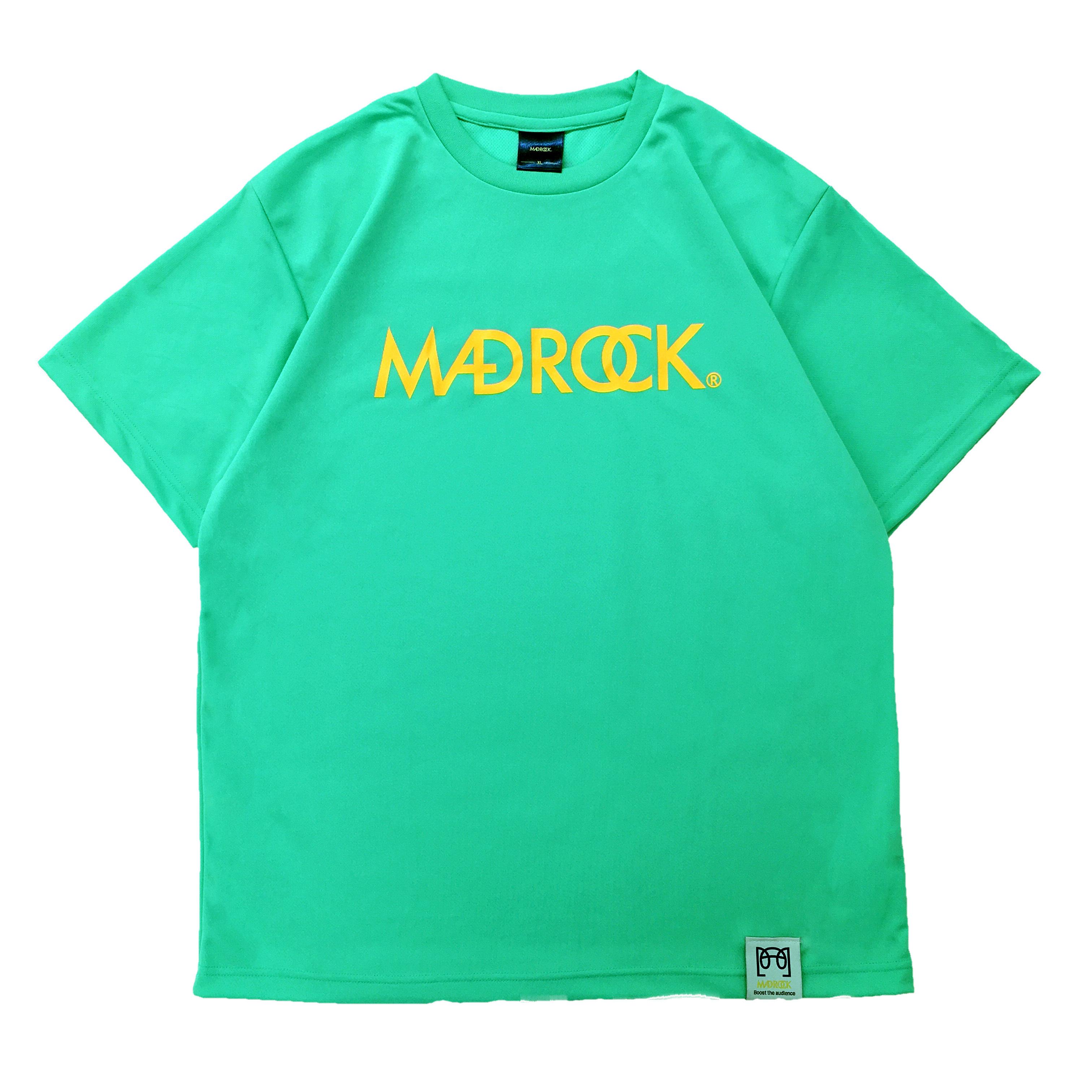 【新作/オンラインストア限定】マッドロックロゴ Tシャツ / ドライタイプ / ミントグリーン & オレンジ