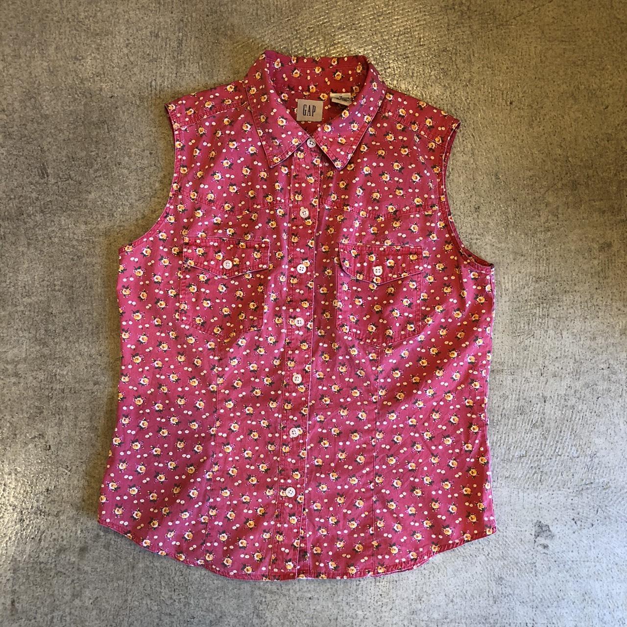 Old Gap Floral S/L Shirts ¥4,900+tax
