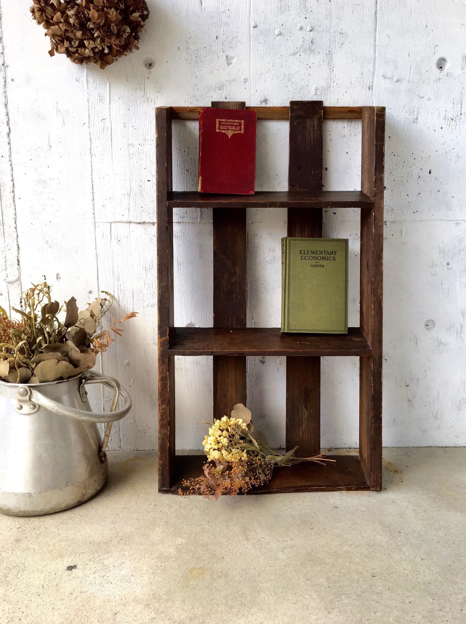 木味のラック[古家具]