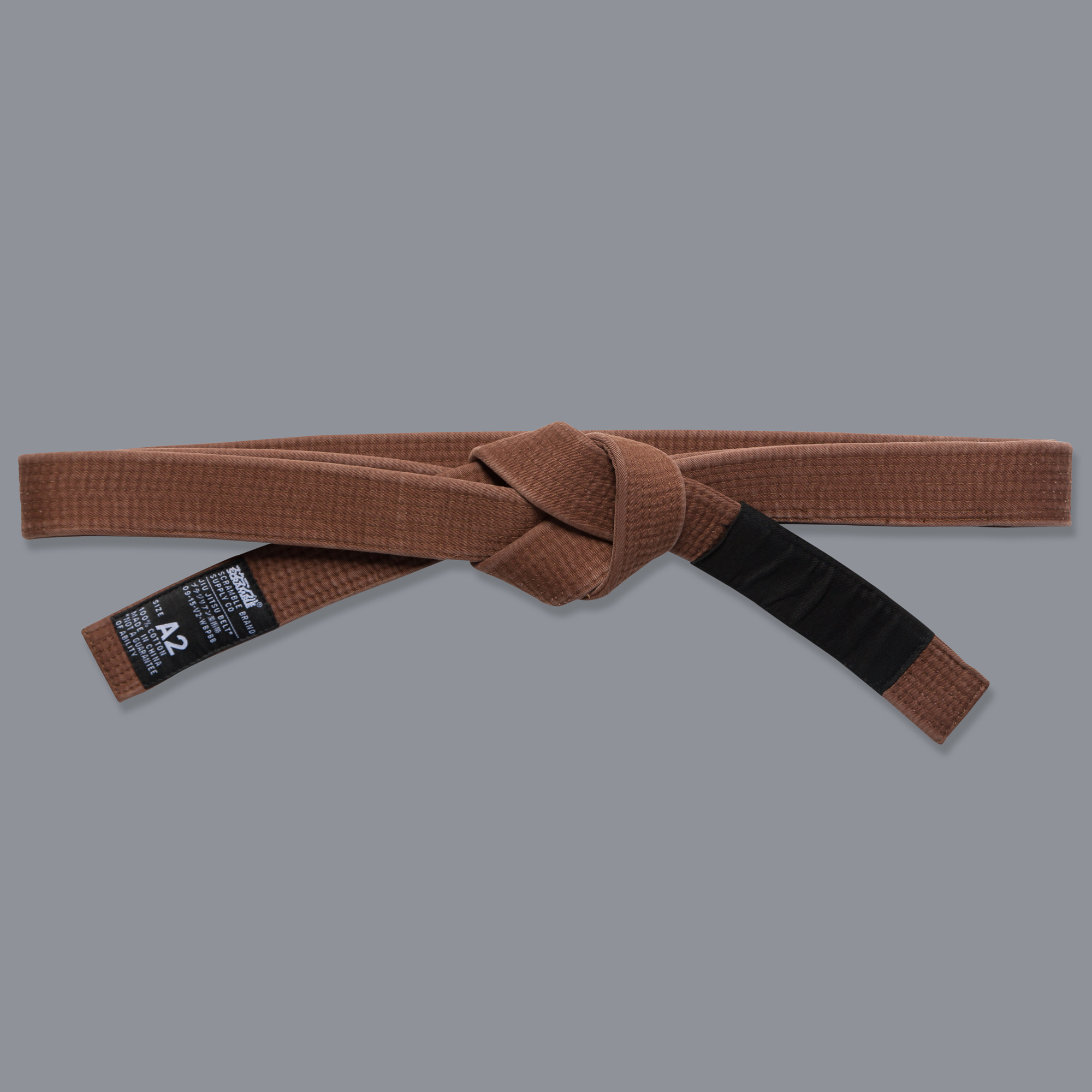 Scramble スクランブル ブラジリアン柔術帯 茶帯
