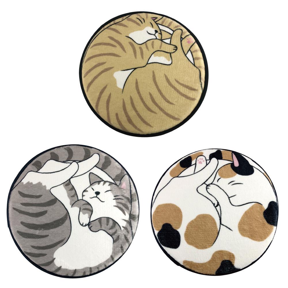 猫チェアパッド(丸まるネコ)全3種類