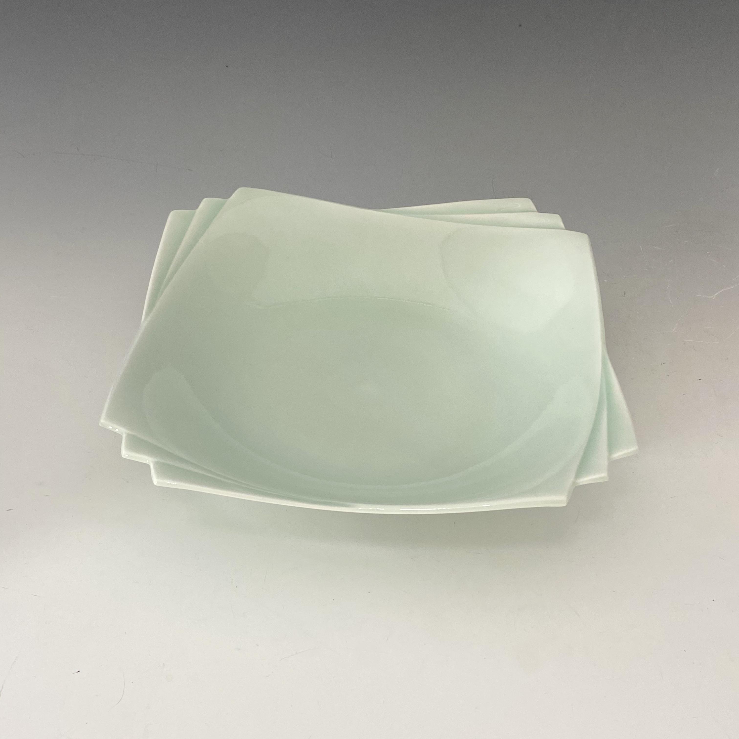 【中尾純】青白磁縁重角鉢