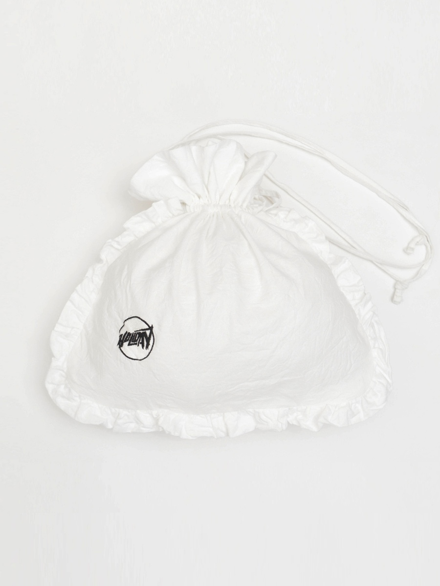 【HOLIDAY】RUFFLE POCHETTE(CIRCLE LOGO)