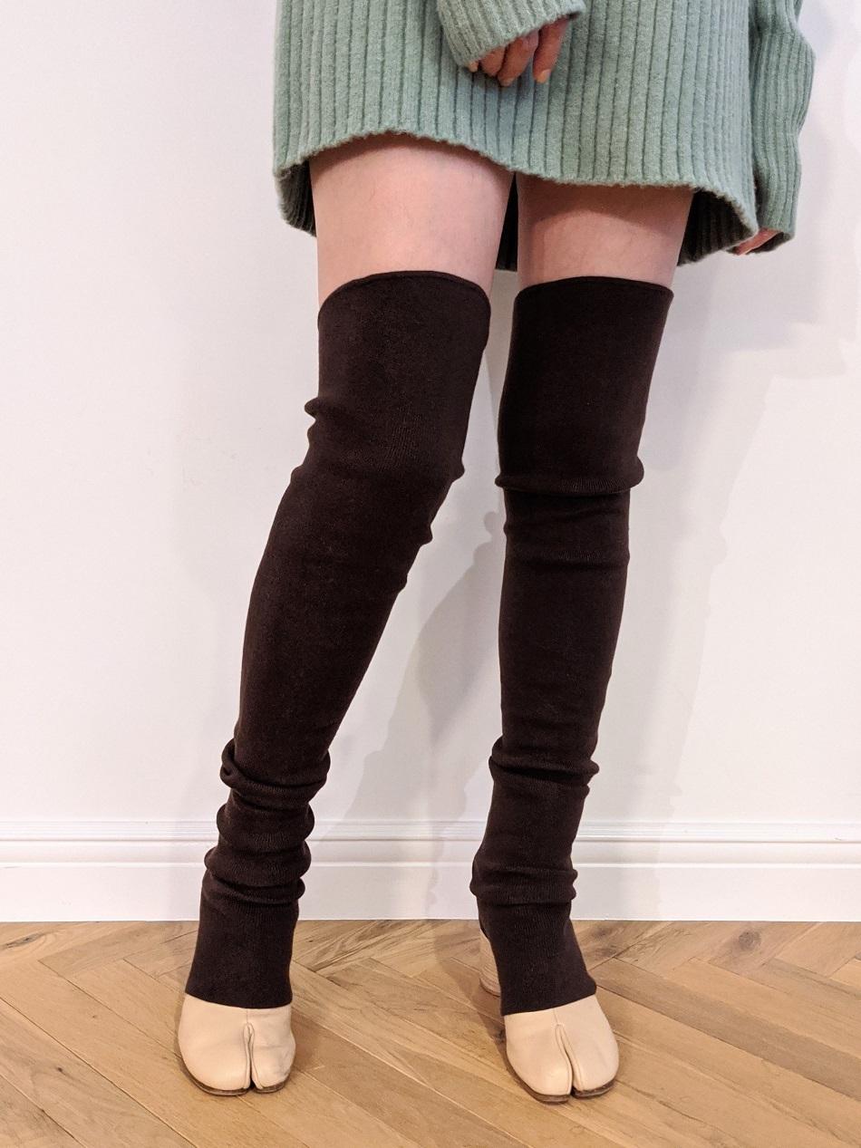 Long Leg Warmers - Chocolate