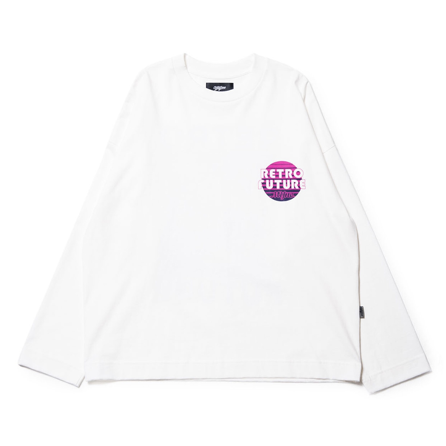 RETRO FUTURE L/S T-shirt / WHITE - 画像1