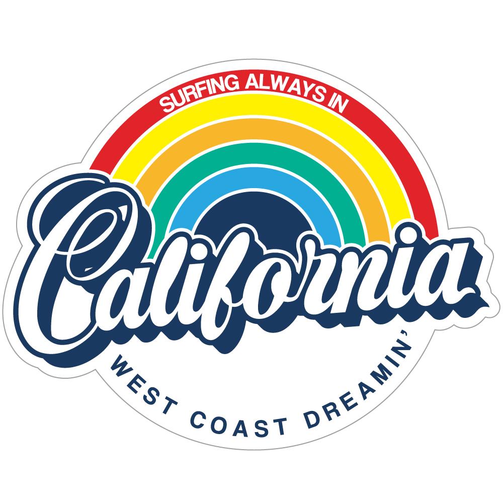 "113 California Rainbow! ""California Market Center"" アメリカンステッカー スーツケース シール"