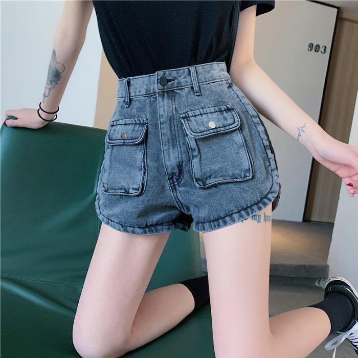 【bottoms】 ハイウエストファッション切り替えショートパンツ27186317
