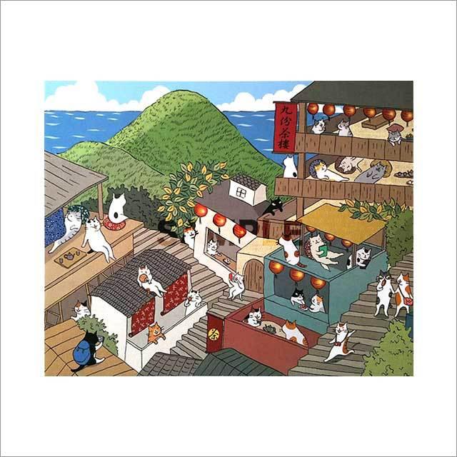 台湾ポストカード「九份貓城」