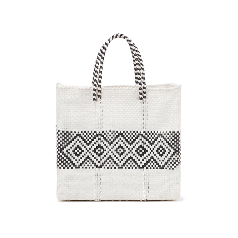 MERCADO BAG DIAMOND LINE-White (S)