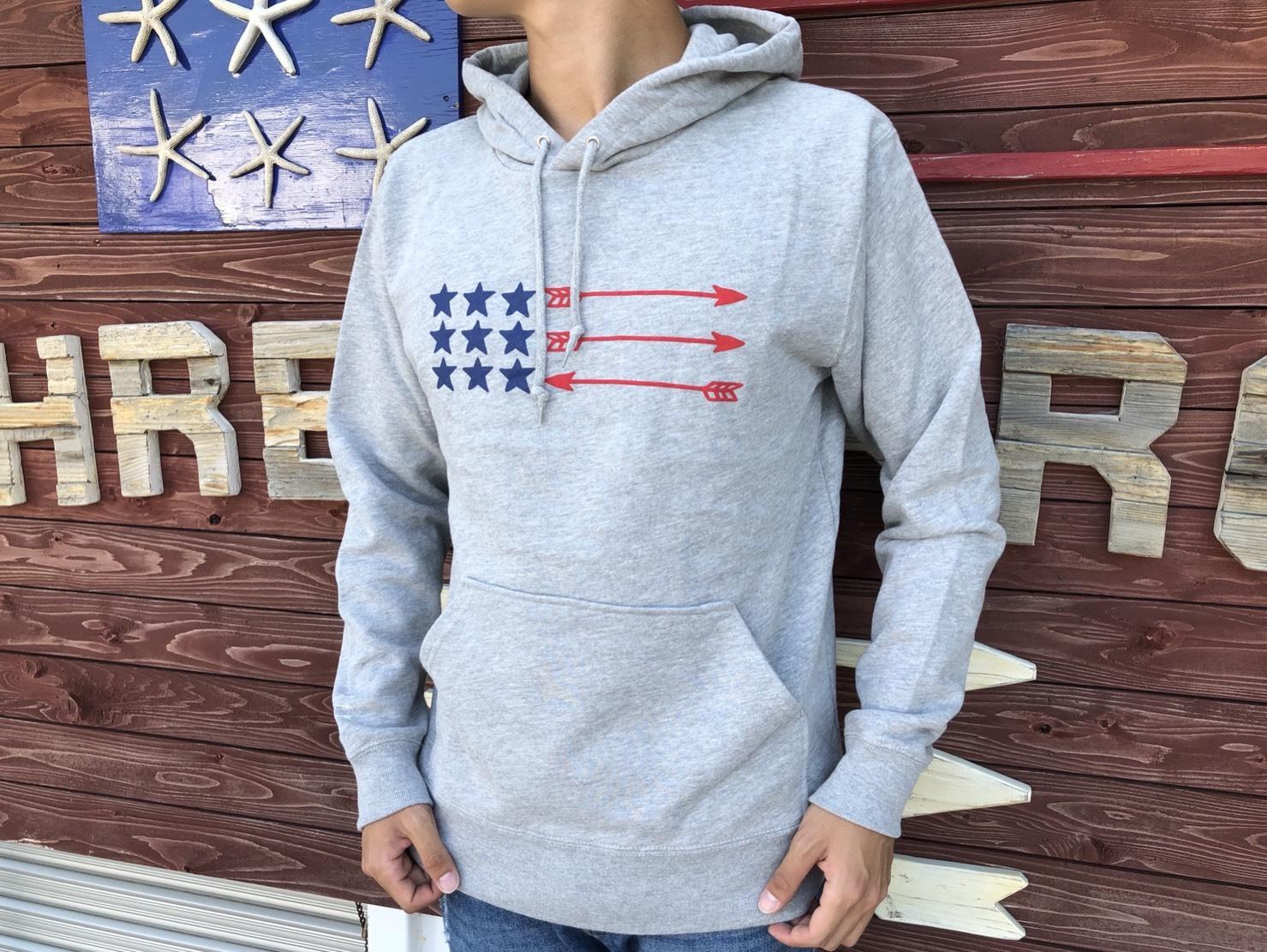 USA ArrowFlag パーカー(grey)