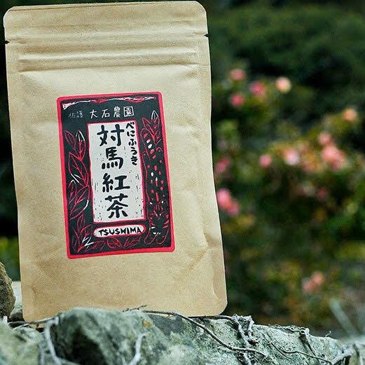 対馬産べにふうき紅茶(リーフ) パッケージに隠れヤマネコ発見!!