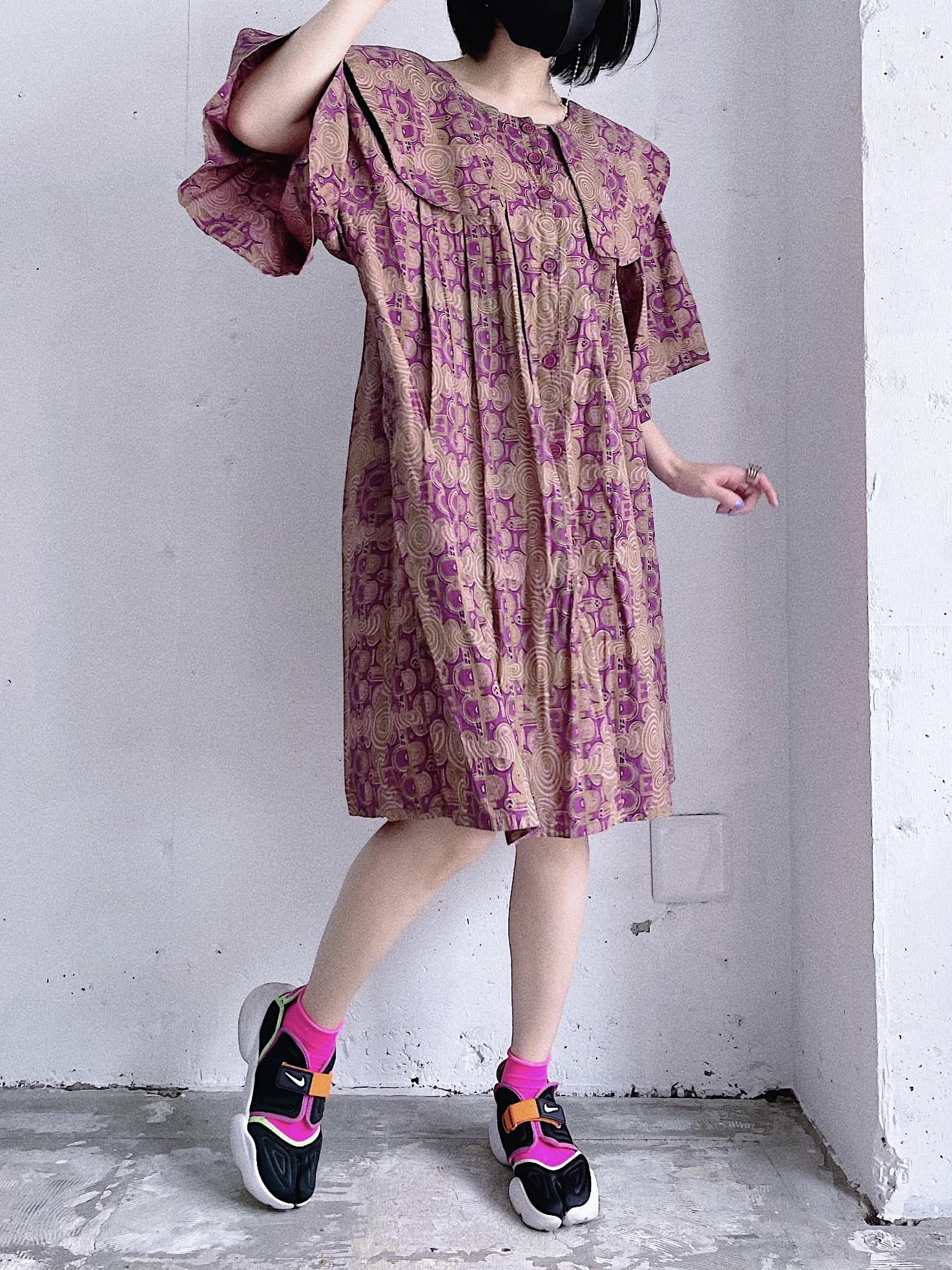 vintage big collar African batik