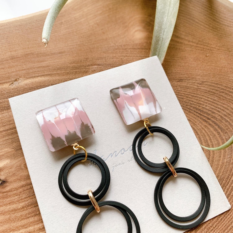 """ Earrings NO.danoan-64″ ピーコックペイントとスペインパーツ"