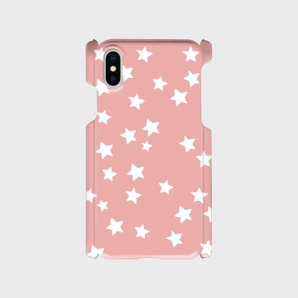 iPhoneX  スマホケース☆スター×ピンク