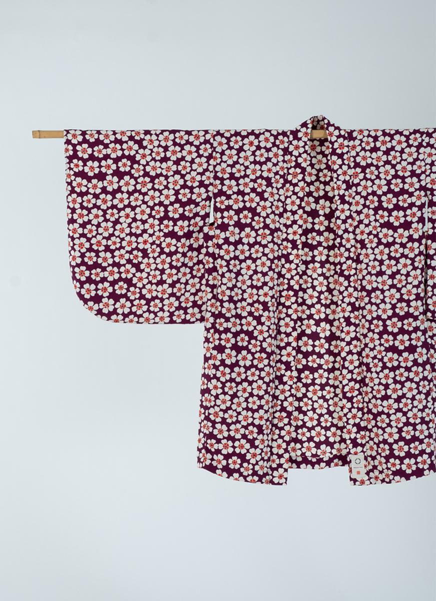 ハートの小花模様 NEW KIMONO 羽織