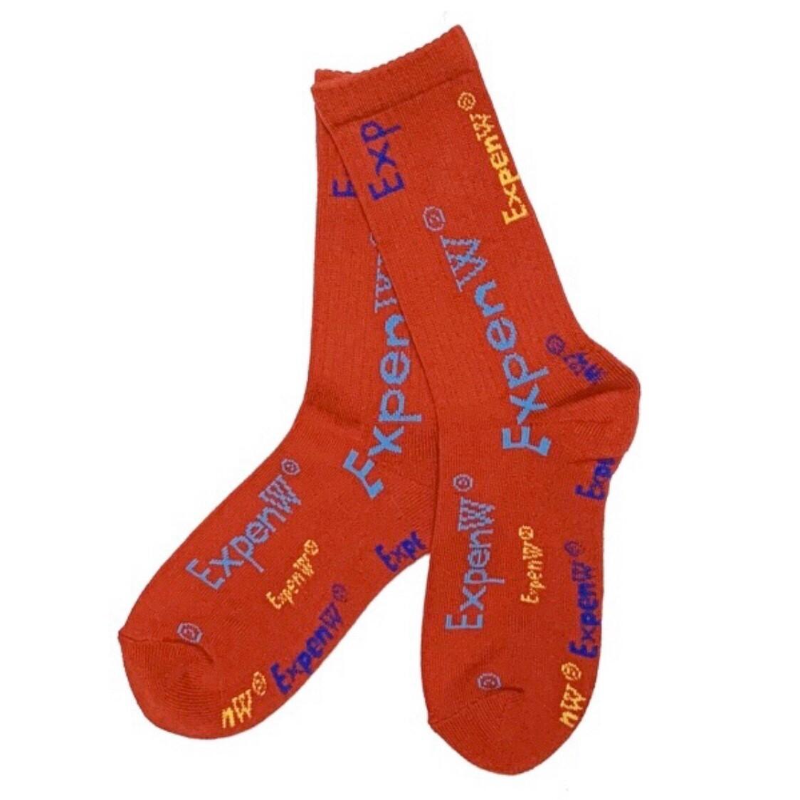WANNA × FAKUI ExpenW Socks RED × TQS (LADIES)