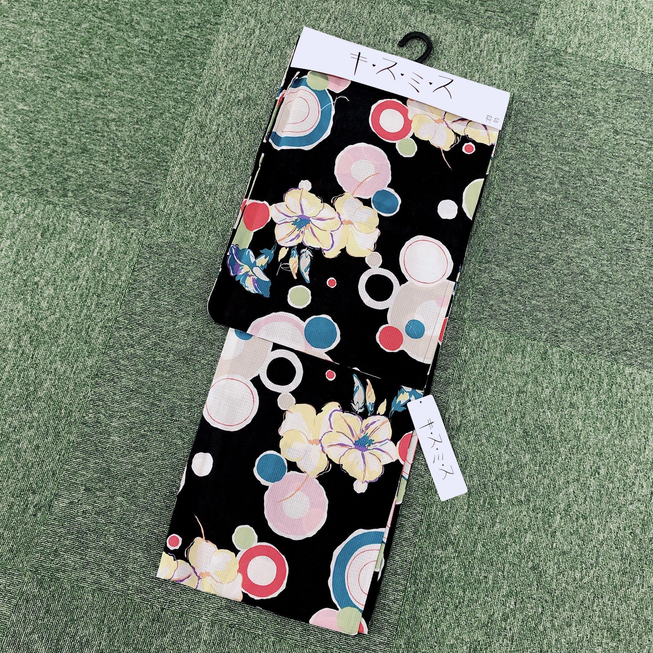 浴衣 レディース 単品 キスミス ブランド <黒ポップ> Yukata
