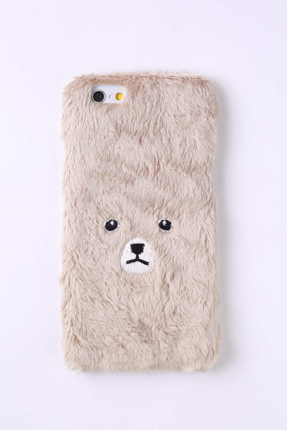 【iPhone6/6S専用】くまiPhone6/6sハードケース【ゴールド】