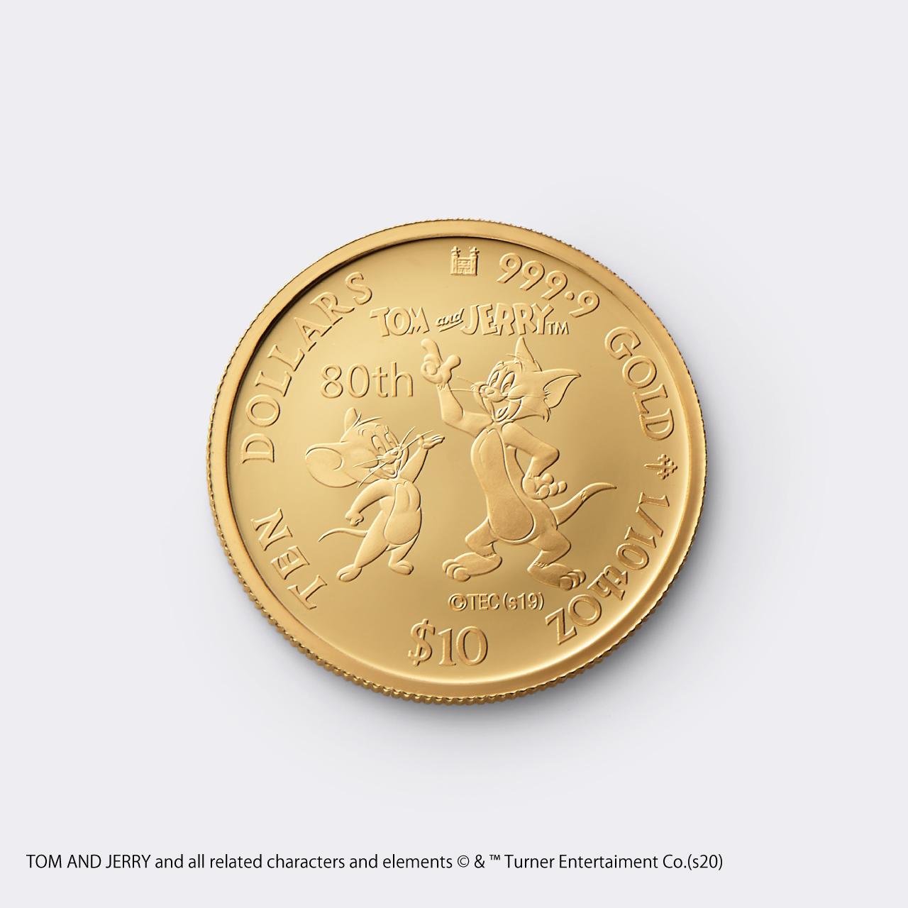 2020 TOM&JERRY 1/10 GOLD PROOF COIN(トムとジェリー 80周年記念硬貨 1/10オンス)