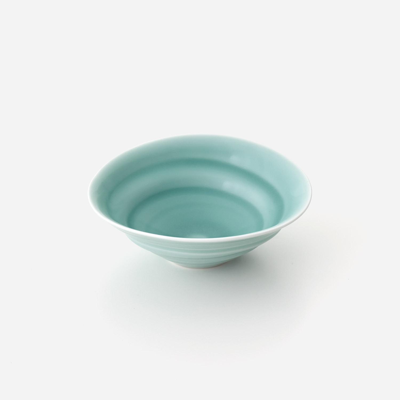 青磁うずまき 中鉢