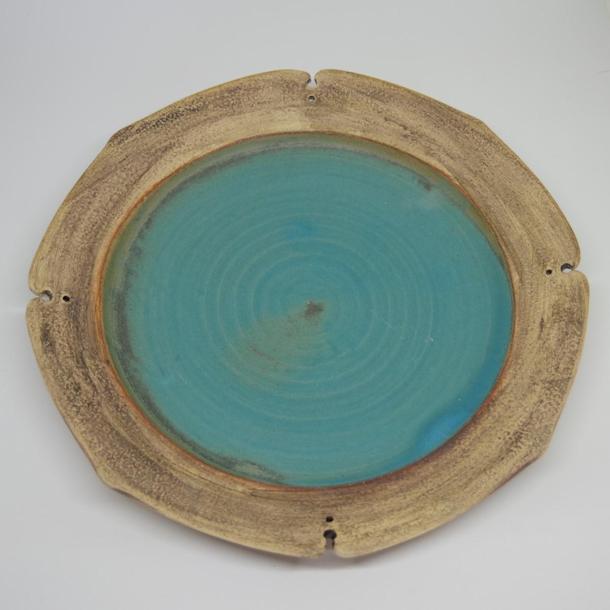 やちむん【空~KOO~】リンカ皿 8寸