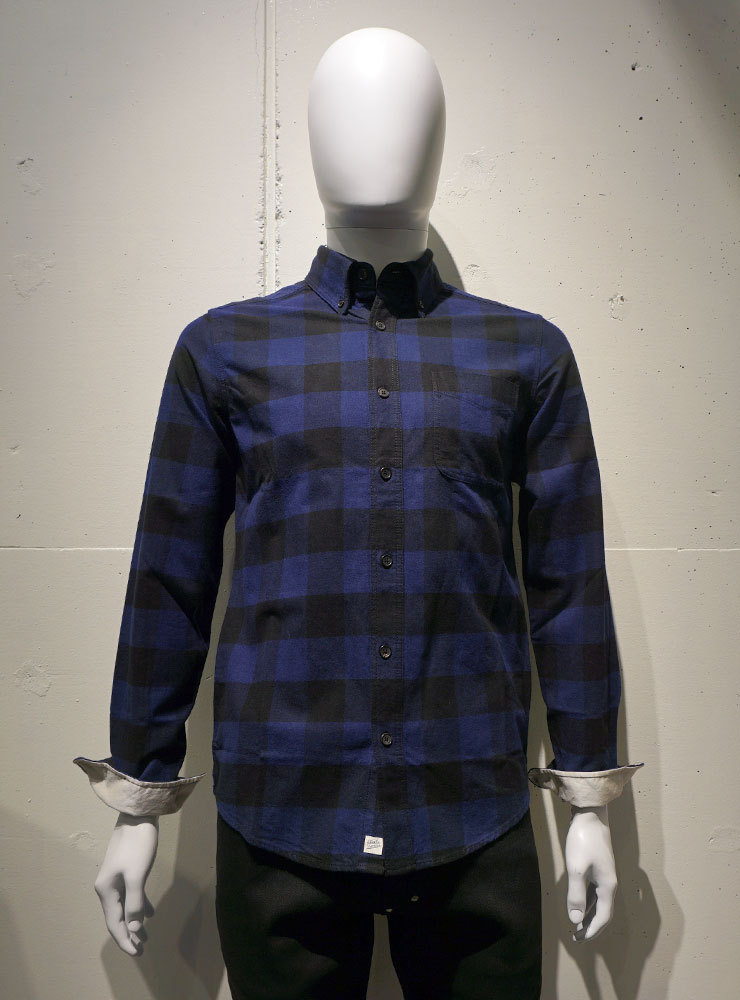 Deus ex Machina ALBIE B.D CHECK Shirts ブルー